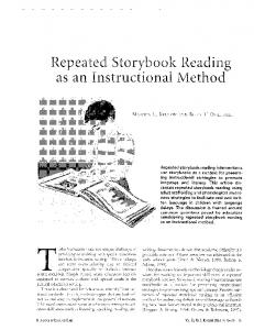 Repeated Storybook Reading as an Instructional ...