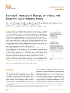 Repeated Thrombolytic Therapy in Patients with ... - BioMedSearch
