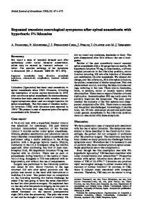 Repeated transient neurological symptoms after ... - Semantic Scholar