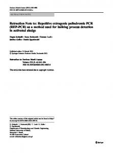 Repetitive extragenic palindromic PCR (REP-PCR) - Springer Link