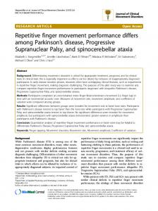 Repetitive finger movement performance differs among ... - Core