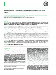 Replacement of Carvedilol for Propranolol in Patients with ... - SciELO