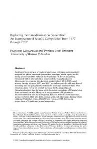 Replacing the Canadianization Generation - Wiley Online Library
