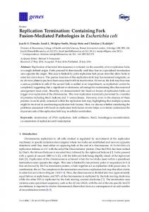 Replication Termination: Containing Fork Fusion ... - Semantic Scholar