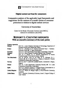 report 1: country reports