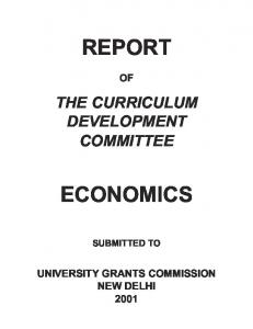 REPORT ECONOMICS - University Grants Commission