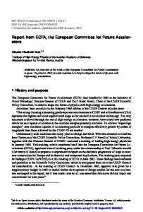 Report from ECFA, the European Committee for Future ... - CiteSeerX