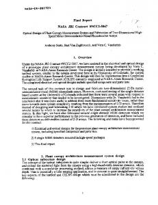 Report / NASA JRI Contract #NCC2-5067 - NASA Technical Reports ...