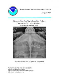 Report of the Sea Turtle Longline Fishery Post-release Mortality ...