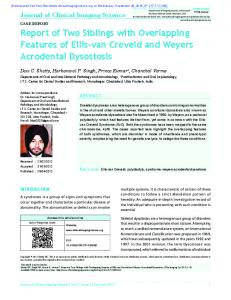 Report of Two Siblings with Overlapping Features of ...