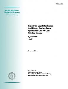 Report On Cost-Effectiveness And Energy Savings From Application ...