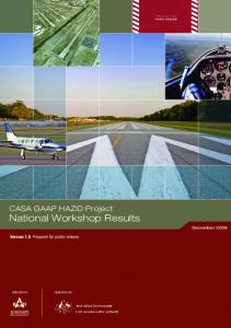 Report on GAAP workshops - Civil Aviation Safety Authority