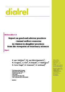 Report on good and adverse practices - Animal welfare ... - Dialrel