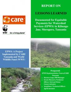 report on lessons learned