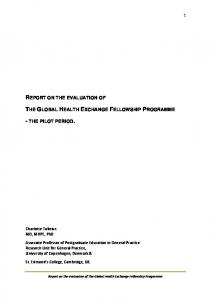 report on the evaluation of the global health exchange fellowship ...