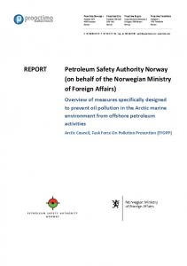 REPORT Petroleum Safety Authority Norway (on ...