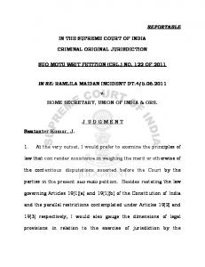 reportable in the supreme court of india criminal original jurisdiction ...