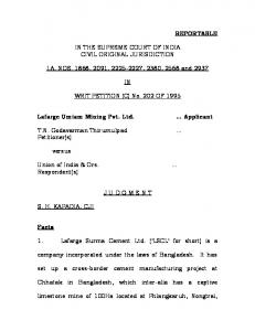 REPORTABLE IN THE SUPREME COURT OF INDIA