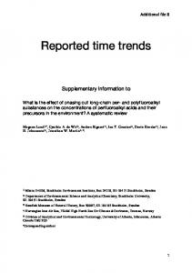 Reported time trends