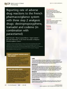 Reporting rate of adverse drug reactions to the French ...