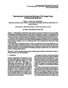 Representation Analysis and Synthesis of Lip Images ... - CS Technion