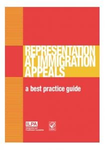 Representation at Immigration Appeals A Best Practice Guide