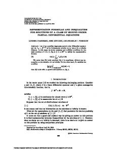 REPRESENTATION FORMULAE AND INEQUALITIES FOR ...