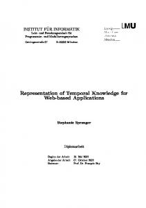 Representation of Temporal Knowledge for Web-based Applications