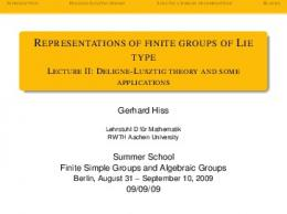 Representations of finite groups of Lie type - Lecture II: Deligne ...