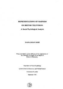 REPRESENTATIONS OF MADNESS ON ... - LSE Theses Online