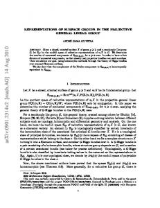 REPRESENTATIONS OF SURFACE GROUPS IN THE PROJECTIVE ...