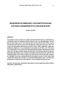 representative democracy, the constitution and electoral engineering ...