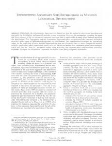 representing aggregate size distributions as modified ... - USDA