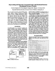 Representing and Querying Conceptual Graphs ... - Europe PMC