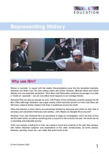Representing History study guide - Film Education