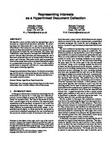 Representing Interests as a Hyperlinked Document ... - CiteSeerX