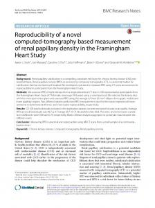 Reproducibility of a novel computed-tomography ... - Springer Link