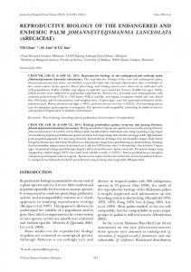 reproductive biology of the endangered and