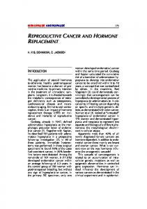 Reproductive Cancer and Hormone Replacement - Krause und ...
