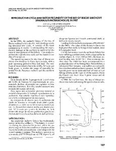 REPRODUCTIVE CYCLE AND BATCH FECUNDITY OF ... - CalCOFI
