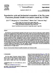 Reproductive cycle and biochemical composition of ...
