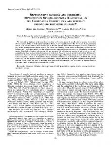 reproductive ecology and inbreeding the chihuahuan ...