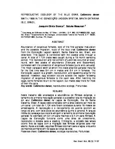 REPRODUCTIVE ECOLOGY OF THE BLUE CRAB, Callinectes ...