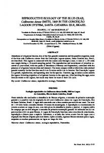REPRODUCTIVE ECOLOGY OF THE BLUE CRAB ... - SciELO