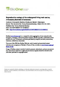 Reproductive ecology of the endangered living rock ...