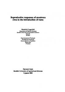 Reproductive responses of anestrous ewes to the introduction of ... - SLU