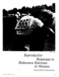Reproductive Responses to Endurance ~xercises in Women: