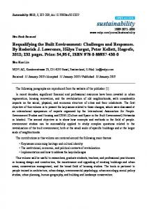 Requalifying the Built Environment - MDPI