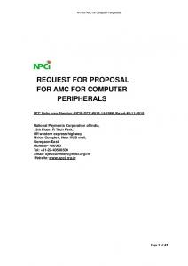 request for proposal for amc for computer peripherals