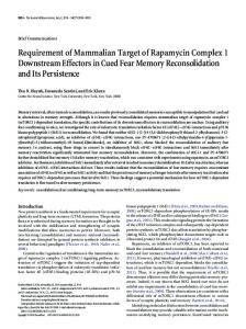 Requirement of Mammalian Target of Rapamycin